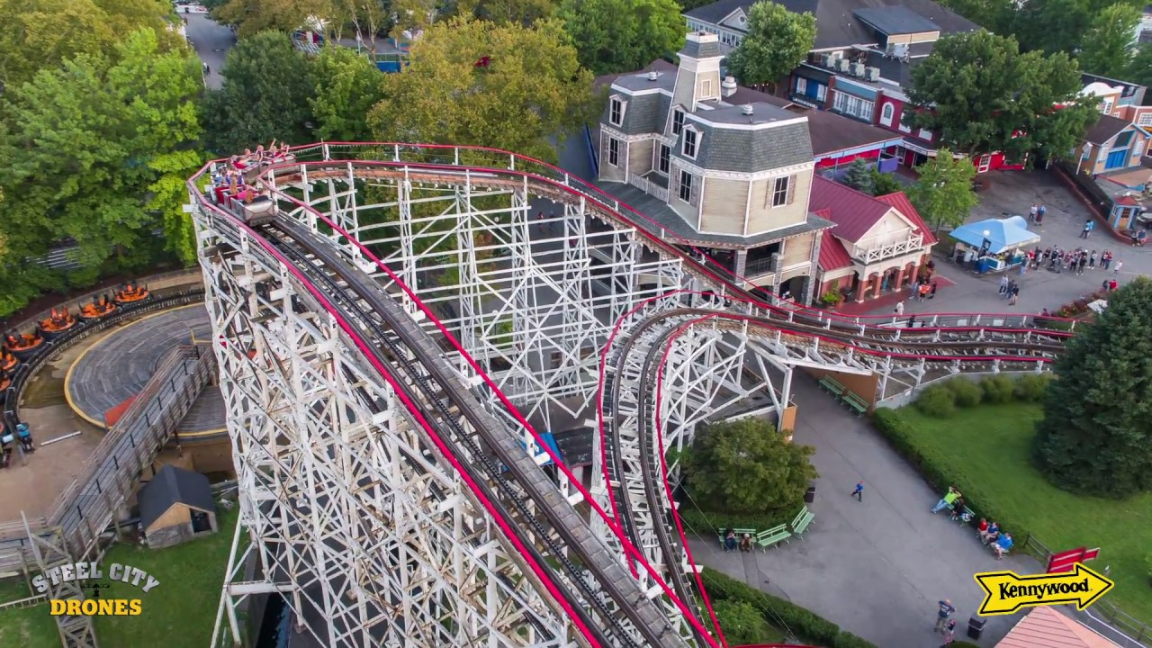 Kennywood Amusement Park From A Drone Perspective