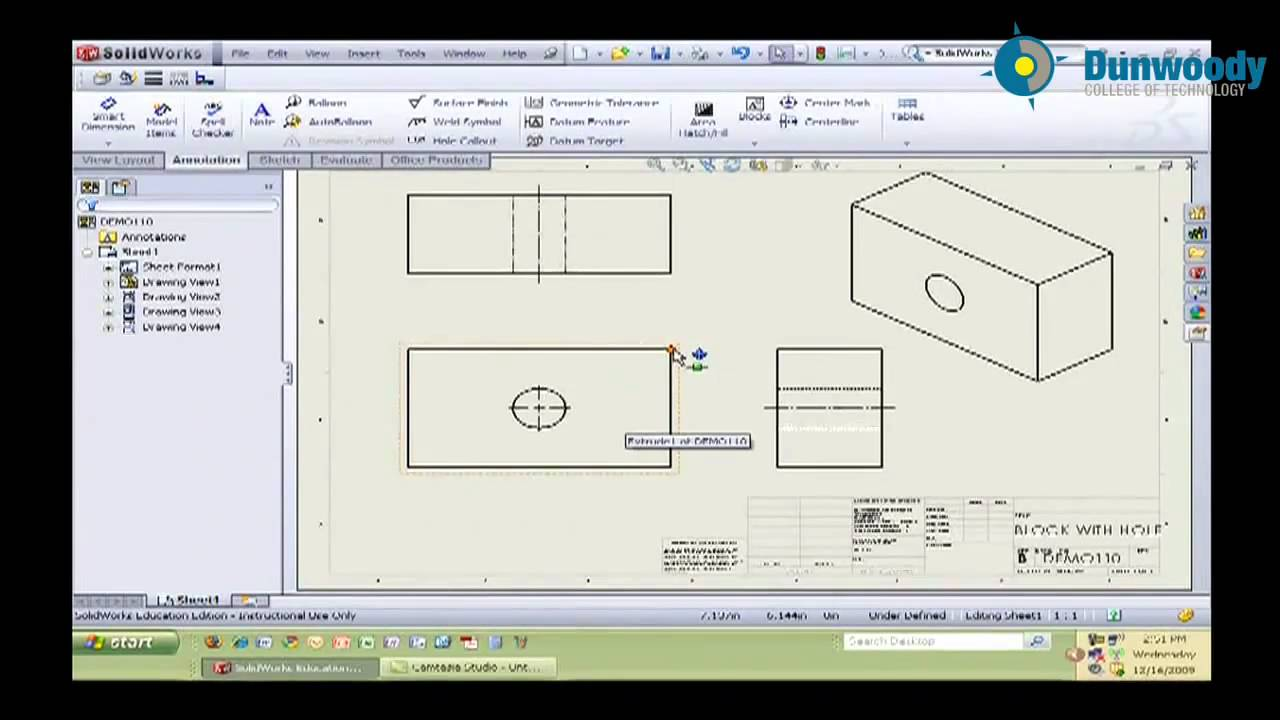Engineering creating a simple drawing in solidworks for Design table not working solidworks