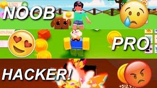 NOOB vs PRO vs HACKER! PET RANCH SIMULATOR! 😱 - ROBLOX
