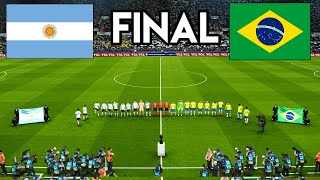 Argentina vs Brazil   FINAL Copa America 2021 Gameplay