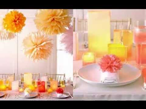 cheap Simple DIY wedding decorations ideas & cheap Simple DIY wedding decorations ideas - YouTube