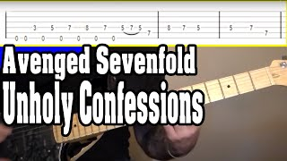 Avenged Sevenfold Unholy Confessions Guitar Tutorial W/tabs