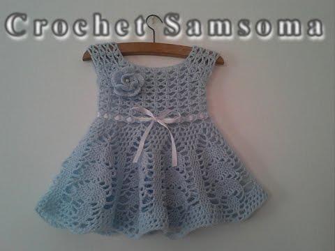 fa71dd8372361 طريقة كروشيه فستان مربع الصدر - الجزء 3 -. Crochet Samsoma