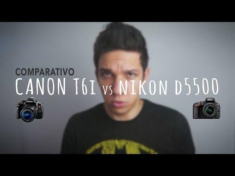Canon T6i vs Nikon D5500 (Português BR)