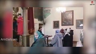 Ադրբեջանցին մտել  է հայկական եկեղեցի ու ուղիղ եթեր մտել