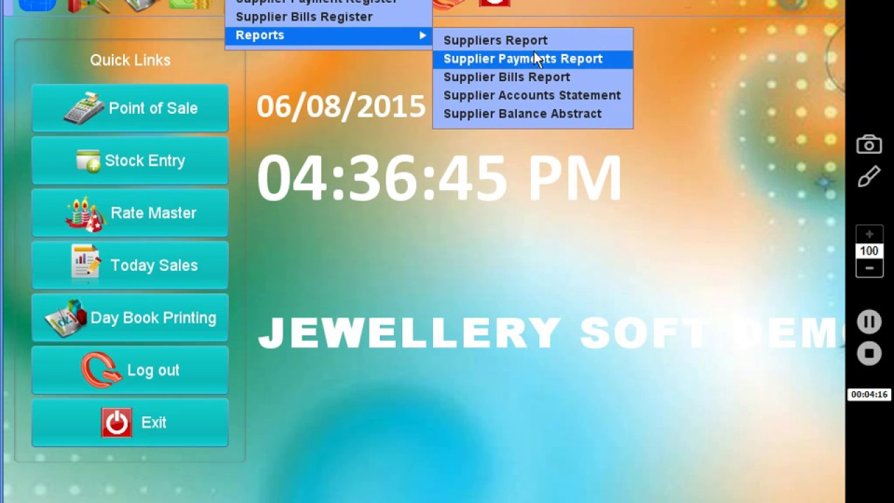 Jewellery Shop Billing Inventory Accounts Software YouTube - Jewelry invoice software
