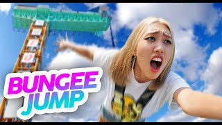 You made me bungee jumping...(AND I ALMOST PASSED OUT) Korean reaction Vlog   Peach Korea