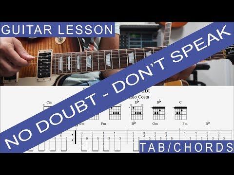 No Doubt, Don't Speak, Guitar Lesson, TAB, COMPLETE, Solo, Tutorial