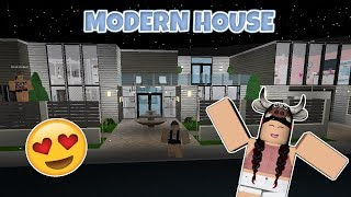 ROBLOX | MY FIRST HOUSE TOUR ON BLOXBURG! (MODERN HOUSE)