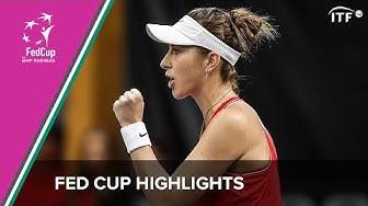 Switzerland vs Canada | Fed Cup Qualifiers 2020 | ITF