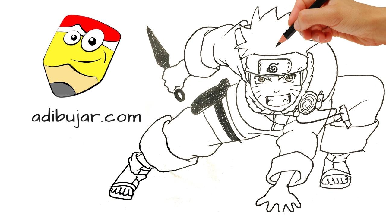 Cómo dibujar a Naruto cuerpo completo paso a paso | How to draw ...