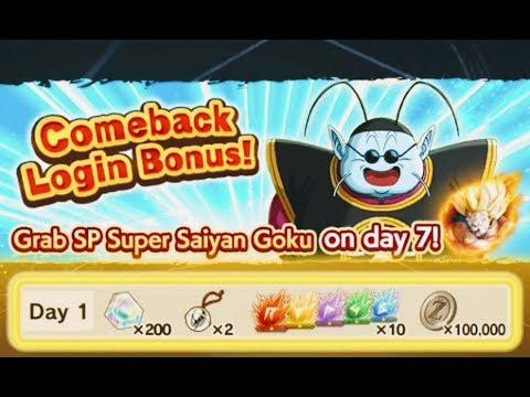 Dragon Ball Legends   Come Back Login Bonus And Super Saiyan Goku