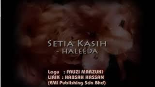 Setia Kasih - Haleeda (Karaoke)