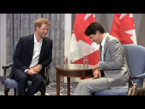 Prince Harry meets with Justin Trudeau