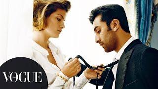 Vogue Archives: Ranbir Kapoor Seduces Supermodel Isabeli Fontana   Cover Photoshoot   VOGUE India