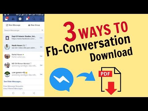 Facebook Conversation/Chat Download As A PDF In Many Methods.