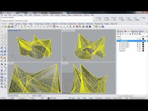 117 - Rhino - Phillips Pavilion Analysis Named View & make 2d & diagram