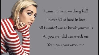 Miley Cyrus - WRECKING BALL (Lyrics) thumbnail