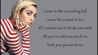 Miley Cyrus   Wrecking Ball (lyrics)