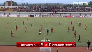 8 Besar DU 2014: Martapura FC 3-2 Pusamania Borneo
