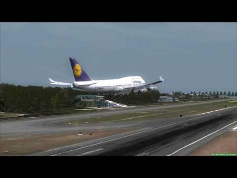Lufthansa 747-400 approaching Phuket Airport [FSX] VTSP