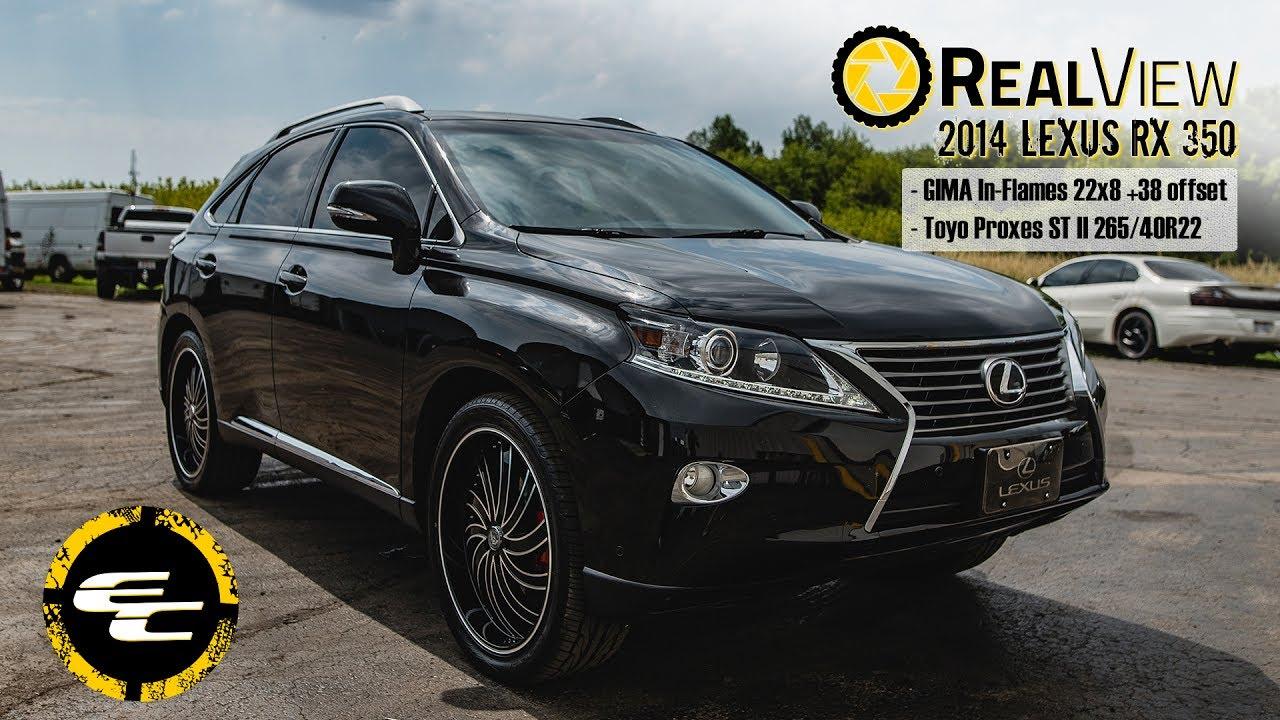 "Lexus 350 Rx 2017 >> RealView - 2014 Lexus RX 350 w/ 22"" GIMA In-Flames wheels & 30"" Toyo Proxes ST IIs - YouTube"