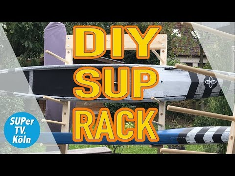 Epic DIY SUP board rack