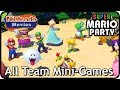 Super Mario Party - All Team Mini-Games (2 Players, Very Hard)