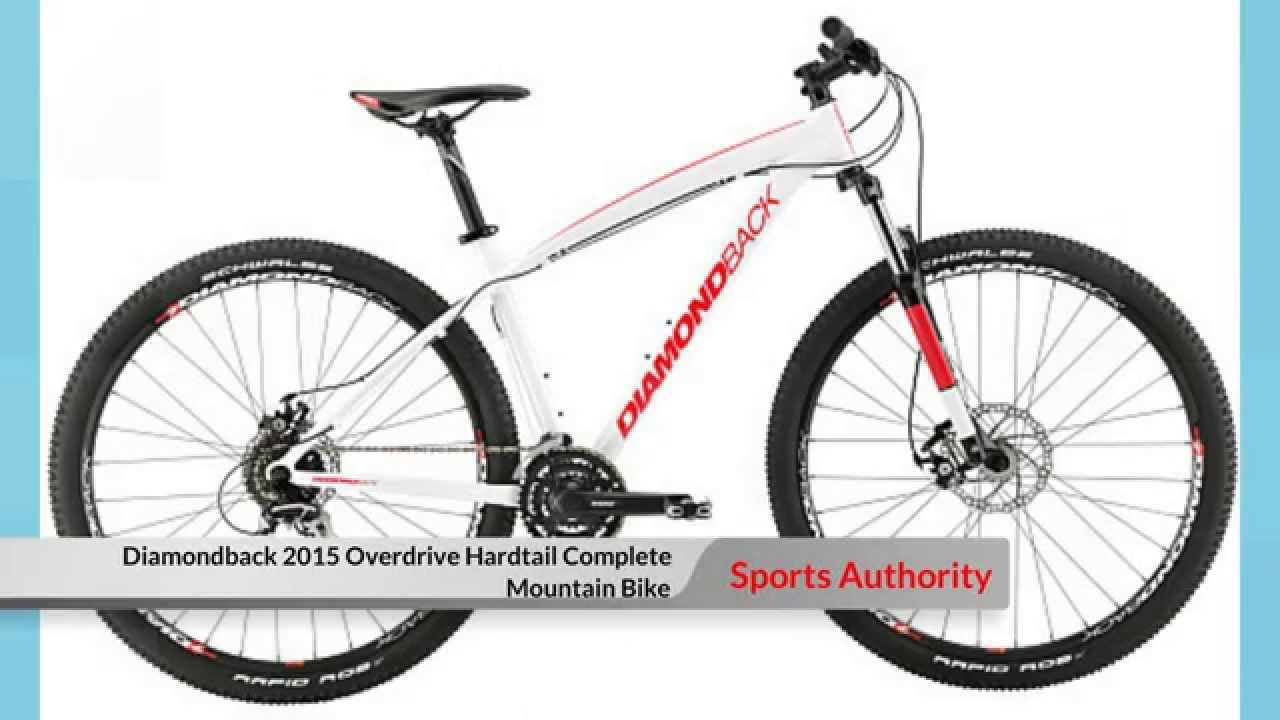 0de45d656bf Sports Authority Mountain Bike Diamondback 2015 Overdrive Hardtail Complete  Mountain Bike - YouTube