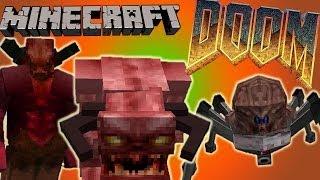 Монстры Из DooM! Обзор Мода Minecraft! (DooM) №70