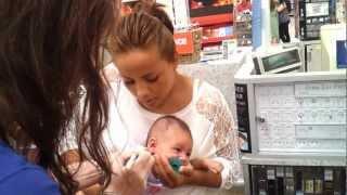 Baby Getting Ears Pierced