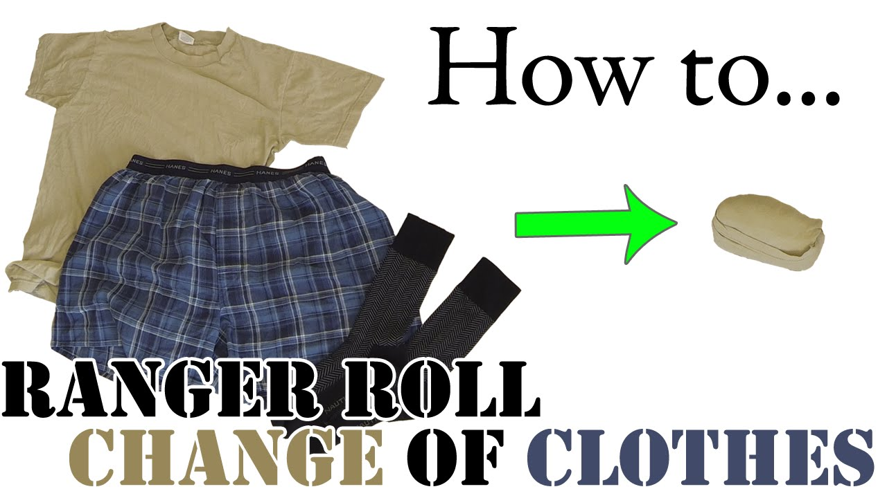 Army hack ranger roll a day 39 s change of clothes for Best way to pack shirts