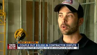 Local couple says contractor took their $15,000 down payment, did no physical work