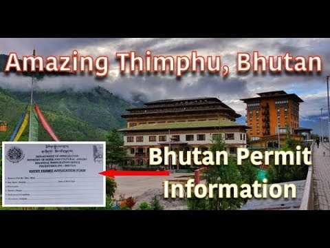 India to Bhutan Thimphu | Bhutan permit form | Bhutan tour Vlog 2