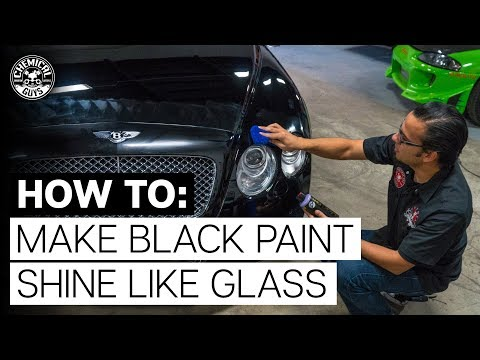 How to Make Black Paint Look Like Glass - Bentley - Chemical Guys - DIY