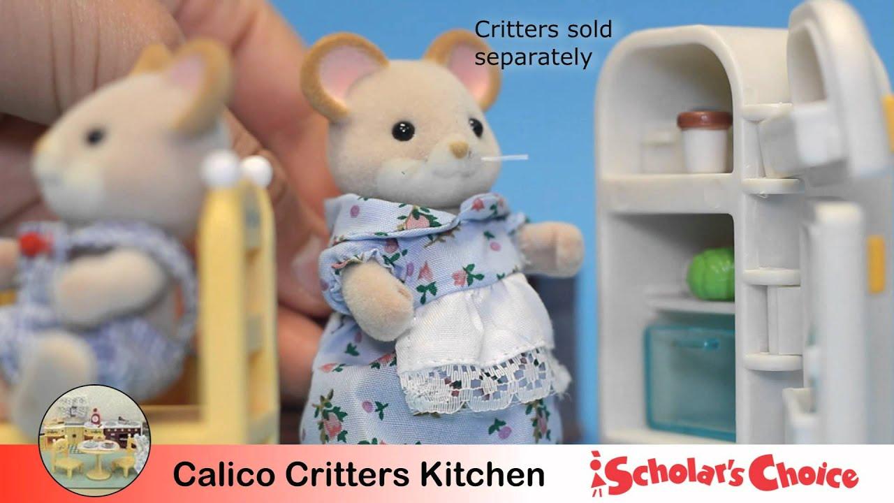 Calico Critters Kitchen Set - YouTube
