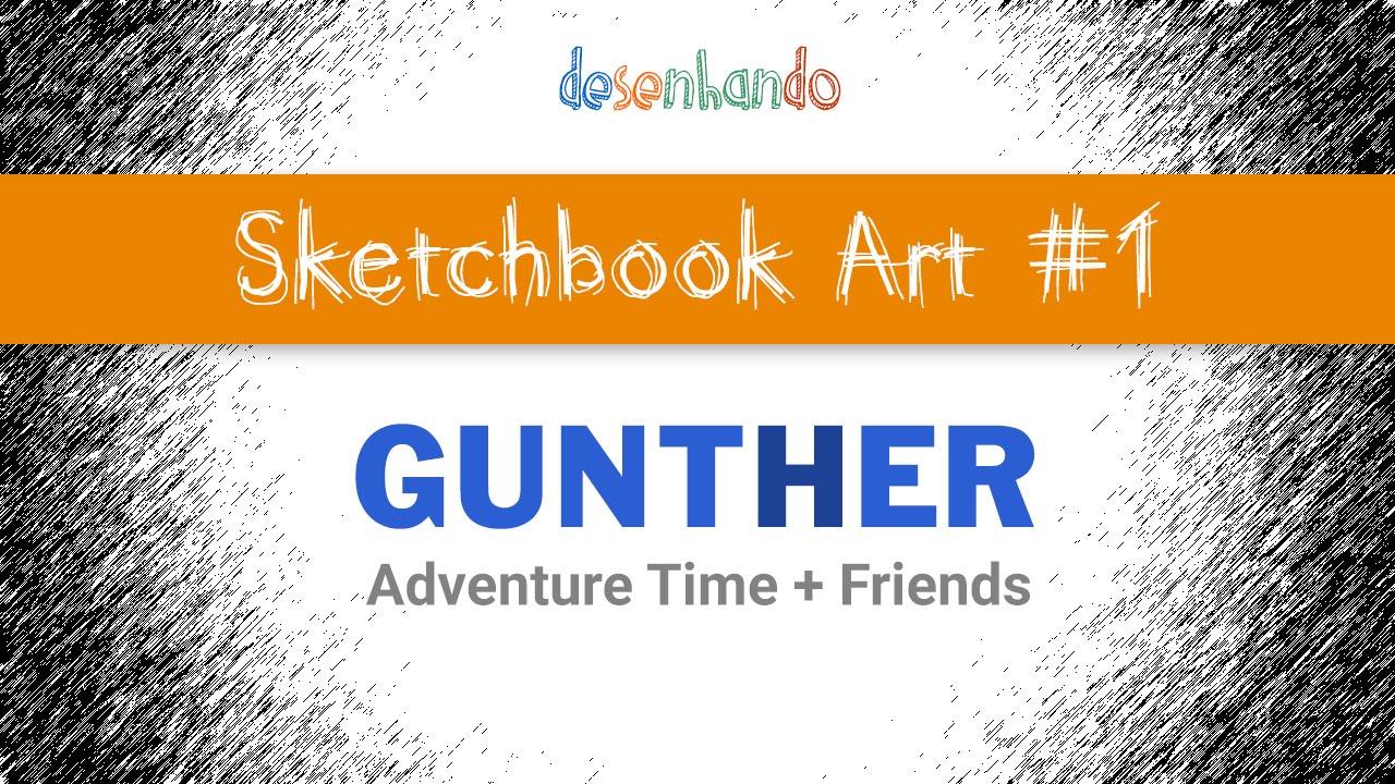 Sketchbook Art #1 - Gunther or Gunter (Adventure Time + Friends)