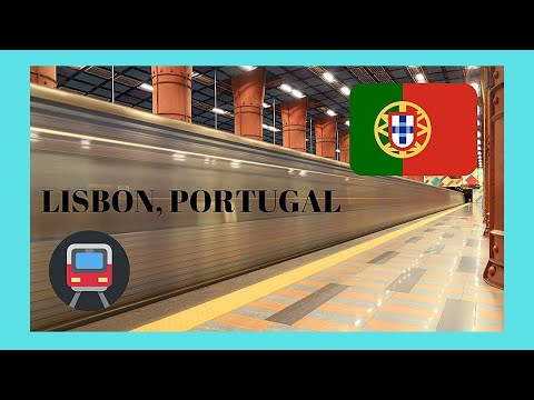 LIBSON, the modern SUBWAY (METRO or underground), PORTUGAL