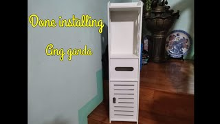 UNBOXING AND INSTALLING a MINI BATHROOM STORAGE CABINET - LAZADA