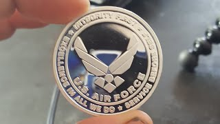 Making A U.S. Airforce Coin Ring. Size 12. Custom Order!