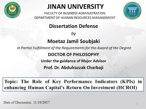 PhD Defense - Business Administration - مناقشة أطروحة الدكتوراه في إدارة الأعمال