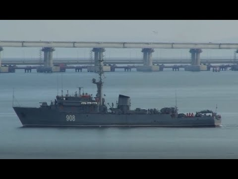 Russia seized three Ukrainian naval vessels which violated territorial waters