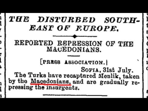 Macedonians in foreign newspapers