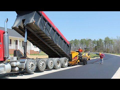 Incredible Modern Asphalt Road Construction and Repair Equipment Machines Technology