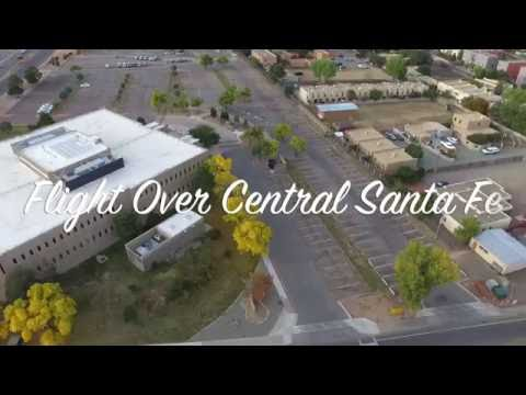 Central Santa Fe NM Drone Flight