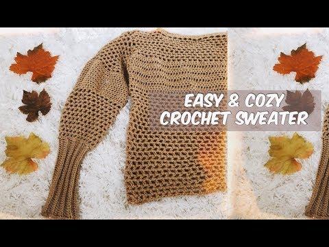 DIY COZY AUTUMN CROCHET SWEATER