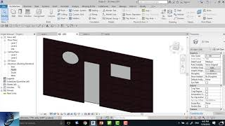 how to embed curtain wall in basic wall in revit ?