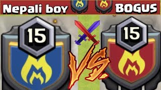NEPALI BOY v/s BOGUS LIVE WAR ATTACKS || TWO TOP CLANS OF NEPAL || CLASH OF CLANS ||