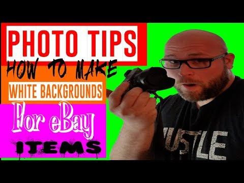 Taking Photos And Adding White Backgrounds To Items To Sell On Ebay