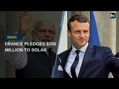 French President pledges $700 million to International Solar Alliance with India